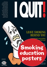 Smoking cessation and tobacco education posters